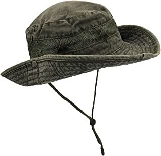 Outdoor Summer Boonie Hat for Hiking, Camping, Fishing, Operator Floppy Military Camo Sun Cap for Men or Women