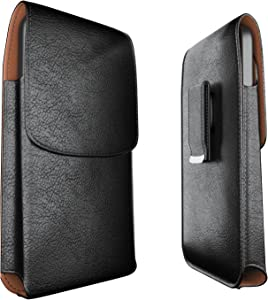 Meilib Belt Clip Case Designed for iPhone SE (2020), iPhone 6 6s 7 8 Cell Phone Holster Case with Swivel Belt Clip Cover Phone Pouch Holder Fits Apple iPhone with Other Slim to Medium Case on - Black