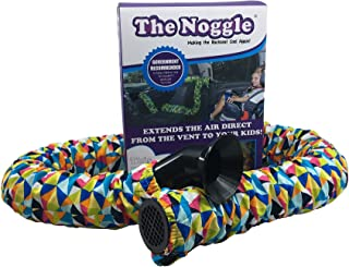 Noggle - Extend Hot and Cold Air from Your Dash AC Vent to Kids in The Back Seat - Summer and Winter Vehicle Baby Traveling System to Keep Children Comfortable in The Car - 8ft, Kaleidoscope