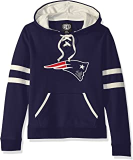 OTS NFL Womens Grant Lace Up Pullover Hoodie
