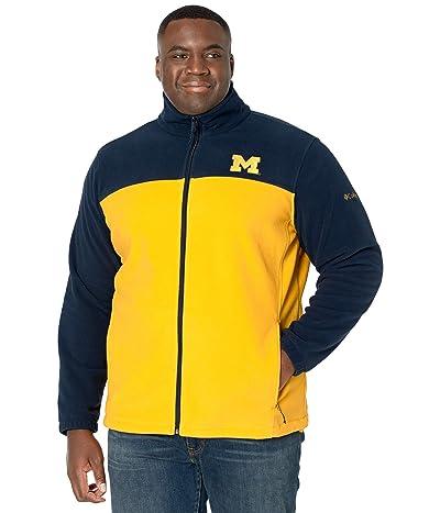 Columbia College Big Tall Michigan Wolverines Flankertm III Fleece Jacket (Collegiate Navy/Collegiate Yellow) Men