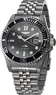 Invicta Men's Pro Diver Quartz Watch with Stainless Steel Strap, Black, Green, 22 (Model: 30609, 30611)