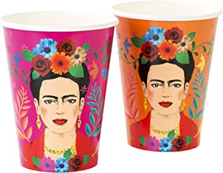 Talking Tables Frida Khalo Party Supplies | Boho Cups Floral | Paper, 12 Pack