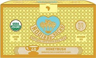 Honeybush Tea Immune Support Teabags - 40 Organic Non GMO Naturally Caffeine Free South African Mountain Ho...