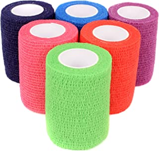 "Ever Ready First Aid Self Adherent Cohesive Bandages 3"" x 5 Yards - 6 Count, Rainbow Colors"