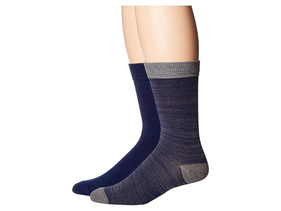 Image of 2(X)IST 2-Pack Dress Crew Socks (Grey/Black) Men's Crew Cut Socks Shoes