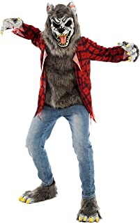 Red Werewolf Halloween Kids Costume with Mask, Gloves and Shoes