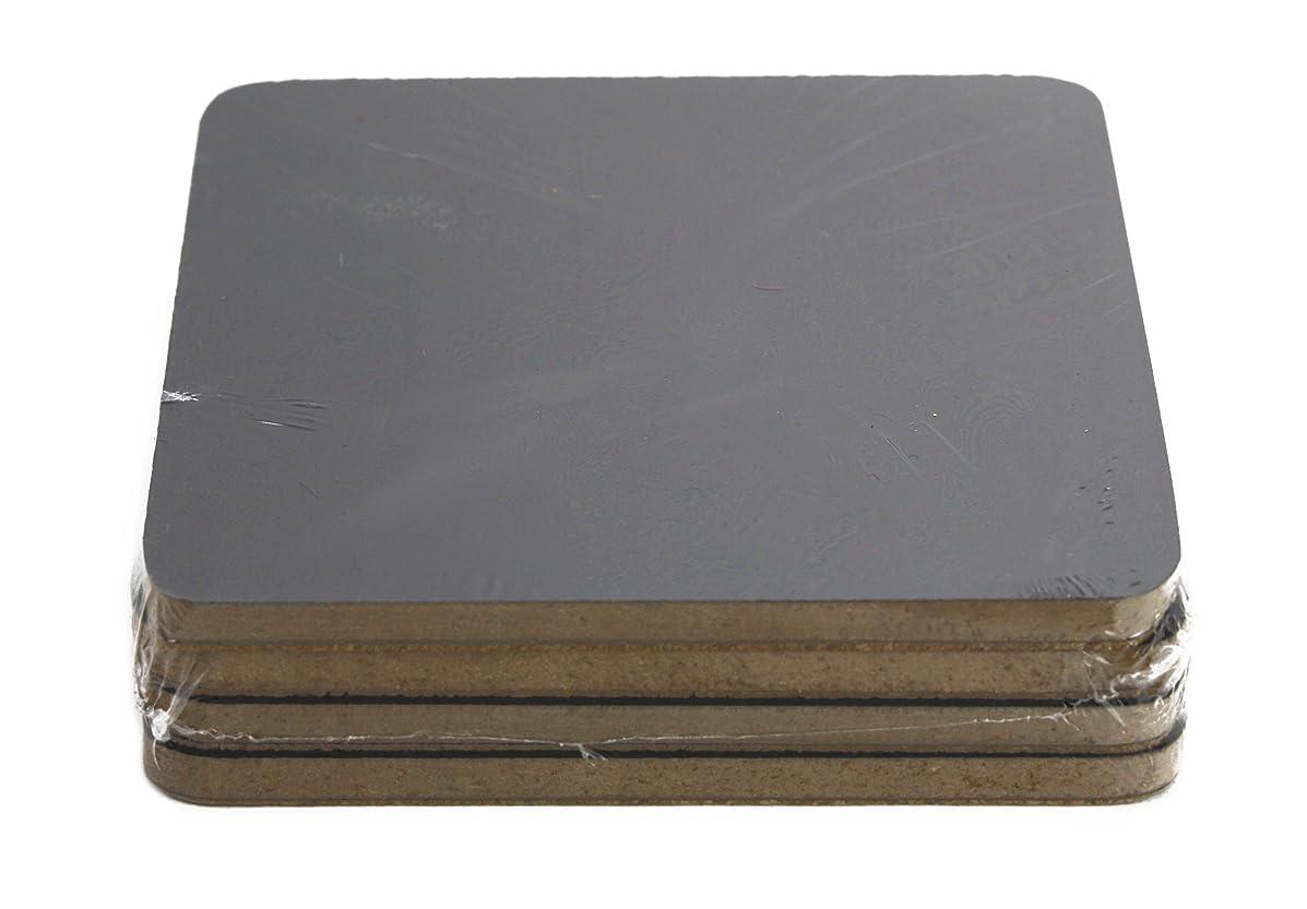Kel-Toy Wooden Chalkboard Coasters (Set of 4), 4 x 4