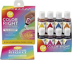 Wilton Color Right Food Coloring Set, 8 Colors