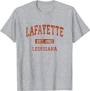 Lafayette Louisiana LA Vintage Athletic Sports Design T-Shirt