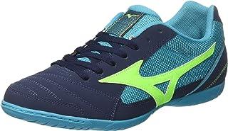MIZUNO Q1GA185114 Sala Club 2 Men's Football Shoes, Deep Blue Sea/Green/Peacock Blue