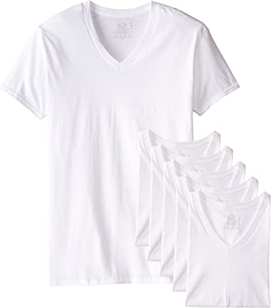 Fruit of the Loom Men's Stay Tucked V-Neck T-Shirt