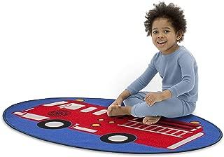 Delta Children Non-Slip Area Rug for Boys, Firetruck