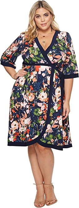Kiyonna Weekend Wrap Dress