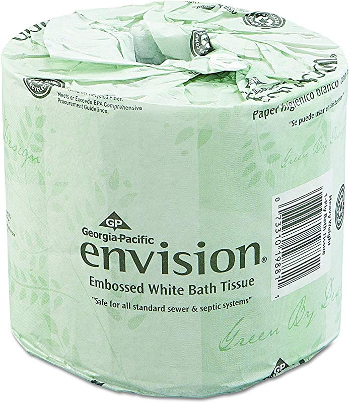 Georgia Pacific Professional Envision 19880 01 Toilet Paper Embossed 550 Sheets Per Roll 80 Rolls