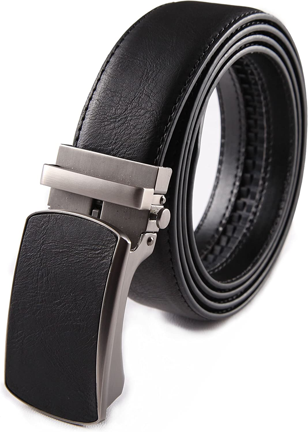 80749f7a9d10 Fabio Valenti Men's Classic Dress Leather Leather Leather Slide Belt with  Auto Lock Click Open up Buckle, Trim to Exact Fit, Big & Tall. 7bbe54
