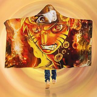 "AJ WALLPAPER 3D Naruto 141 Hooded Blanket Cloak Japan Anime Japanese Cosplay Game US Onion (L: 150x200cm(59""x78""))"