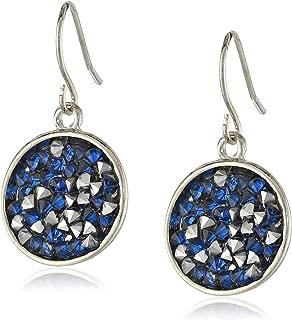 Faceted Bead Disc Drop Earrings