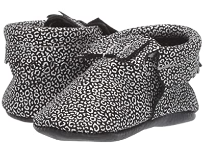 Freshly Picked Wild Nights Bow Mocc (Infant/Toddler) (Silver/Black) Girl