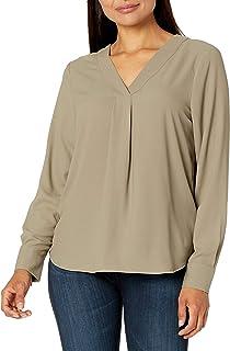 Lark & Ro Blusa Tipo túnica con Cuello en V Blusa para Mujer