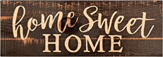 P. Graham Dunn Home Sweet Home Script Design Black Distressed 16 x 6 Inch Solid Pine Wood Plank Wall Plaque Sign