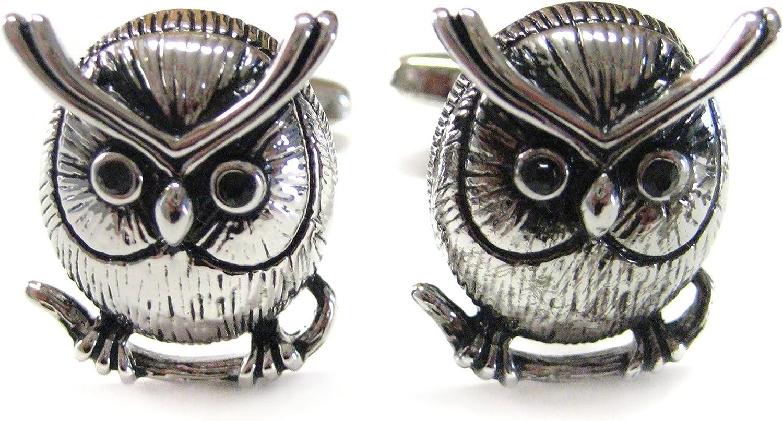 Round Owl Cufflinks