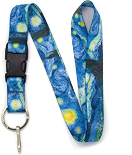 Buttonsmith Starry Night Premium Lanyard - with Buckle and Flat Ring - Made in The USA