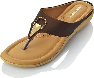 Footsoul Women's Vitara Slippers (Brown) (FSL-167)