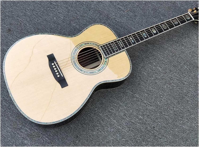 MLKJSYBA Guitarra Acústica De Estilo Sólido Calidad, Abulón Real De Ébano con Diapasón Eléctrico Acústico (Color : Guitar, Size : 40 Inches)