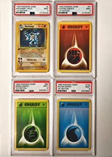 1999 Pokemon Base Set 1st Edition LOT of 4 Cards Machamp Holo Water Energy ++