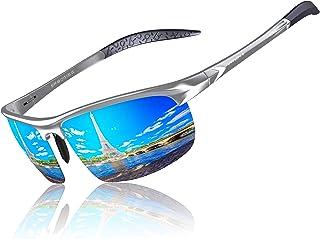 KITHDIA Occhiali da sole polarizzati uomo Occhiali sportivi Occhiali per la guida telaio in metallo S8199