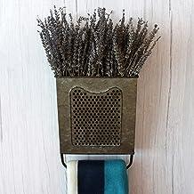 CVHOMEDECO. Primitives Vintage Galvanized Tin Wall Box Metal Wall Hanging Flower Holder with Towel Bar, Wall Pocket Organi...