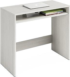 Habitdesign 008310Y - Escritorio Mesa de Ordenador Acabado en Color Blanco Alpes Medidas: 79x79x43 cm de Fondo