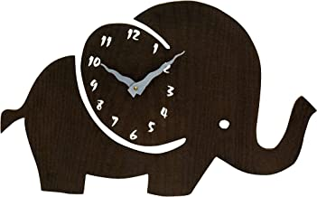 Art of East Cute Elephant Designer Wooden Wall Clock for Home   Wall Clock for Living Room and Office