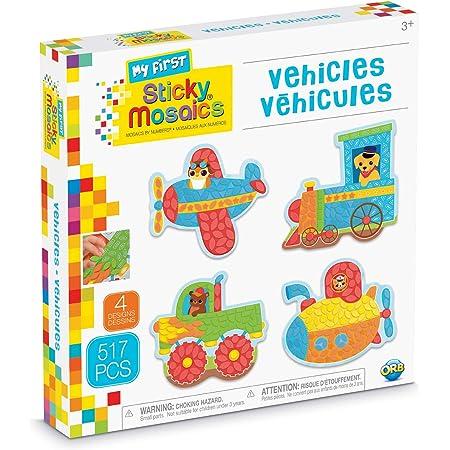 Mosaic Sticker Craft Activity Kit Vehicles