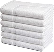 Haven Cotton Bath Towel Set, Cotton, White, 6 Pcs Bath mat