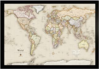 Homemagnetics HM3322WLDM Magnetic World Map, 33 X 22