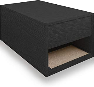 Way Basics Eco Friendly Cat Litter Box Enclosure Sidetable (Made from Sustainable Non-Toxic zBoard paperboard)