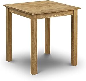 Julian Bowen Coxmoor - Tavolo da pranzo quadrato, in legno di quercia