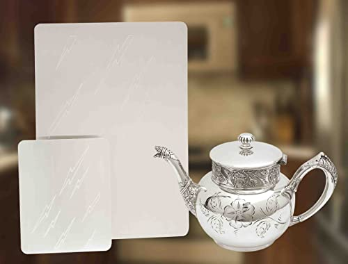 2021 SILVER/GOLD outlet sale CLEANING PLATES - SET OF 2021 2 IN 2 SIZES! outlet sale