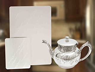 SILVER/GOLD CLEANING PLATES - SET OF 2 IN 2 SIZES!