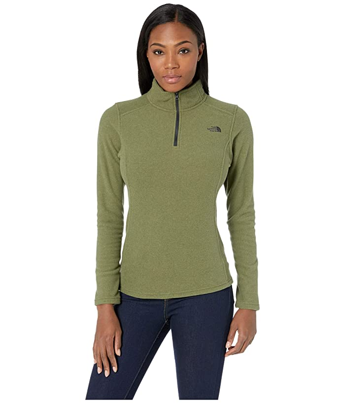 The North Face Glacier 1/4 Zip Fleece Top (Four Leaf Clover Heather) Women