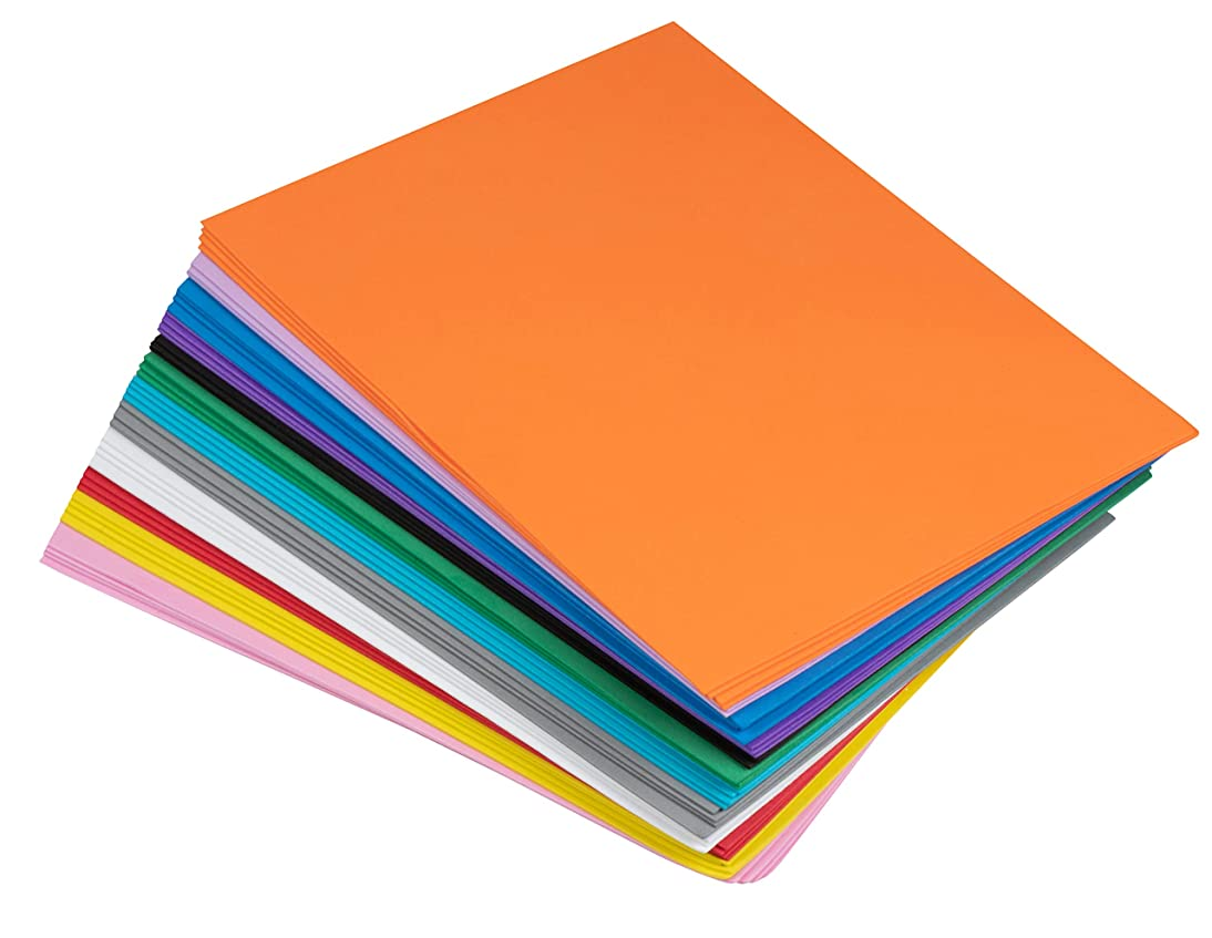 Foam Sheets - 96-Pack Foamie Sheets, EVA Foam Sheets, Foam Paper, Craft Foam, Colored Foam, for Classroom Project, Scrapbooking, DIY Art, Party, 12 Assorted Colors, 9 x 12 x 0.06 Inches