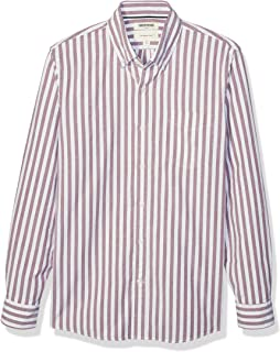 Amazon Brand - Goodthreads Men's Slim-Fit Long-Sleeve Stripe Oxford Shirt