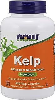 [海外直送品] ナウフーズ  - Kelp Caps 325 mcg 250 Vcaps - ケルプ(ヨウ素325mcg)