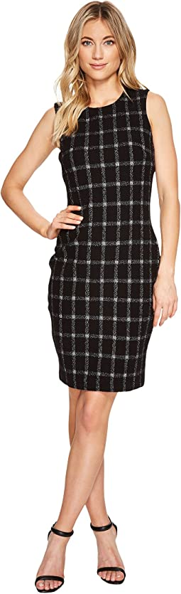 Calvin Klein - Grid Pattern Sheath Dress CD7P25BC