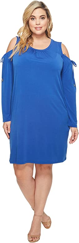 MICHAEL Michael Kors - Plus Size Solid Matte Jersey Cold Shoulder Dress