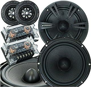New Gravity 600C 500-watt Peak Power 4 Ohm 6.5-Inch 2-Way Car Audio Component Speakers System 6-1/2 Inches Speaker Set (2 ... photo
