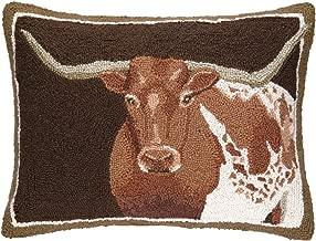 Peking Handicraft Longhorn Hook Pillow, 16 by 22-Inch, Multicolor