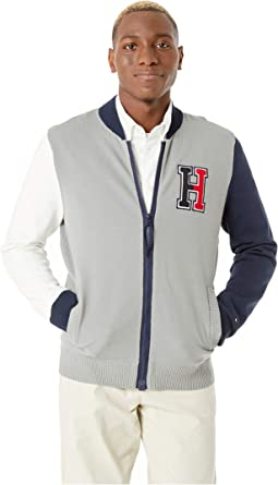 Baseball Sweater with Magnetic Zipper